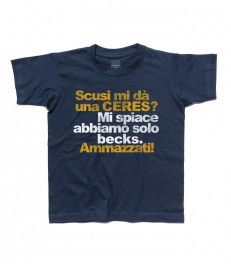 ceres t-shirt bambino con scritta