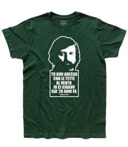guccini t-shirt uomo con frase tratta dalla canzone eskimo