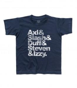 guns and roses nomi t-shirt bambino Axl Slash Duff Steven Izzy
