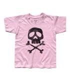 Capitan Harlock t-shirt bambino raffigurante il teschio del suo costume antichizzato