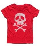 Capitan Harlock t-shirt donna raffigurante il teschio del suo costume antichizzato