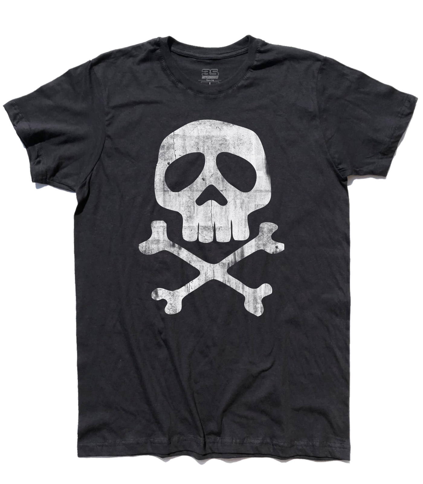T-shirt bimbo CAPITAN HARLOCK teschio skull Arcadia Jolly Roger cartoni anni 80