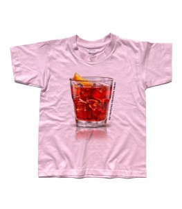 negroni t-shirt bambino con scritta un terzo un terzo un terzo