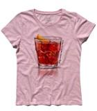 negroni t-shirt donna con scritta un terzo un terzo un terzo