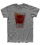 negroni t-shirt uomo con scritta un terzo un terzo un terzo
