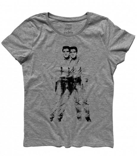 elvis double t-shirt donna andy warhol
