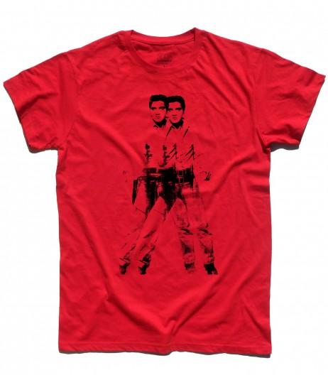 elvis double t-shirt uomo andy warhol