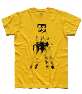 elvis double t-shirt uomo andy warhol
