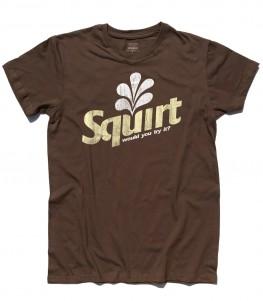 squirt t-shirt uomo con scritta squirt