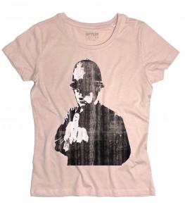 Rude copper t-shirt donna raffigurante la celebre opera di Banksy