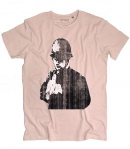 Rude copper t-shirt uomo raffigurante la celebre opera di Banksy