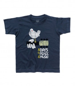 woodstock concerto t-shirt bambino peace love music