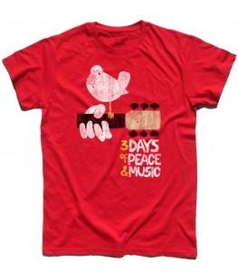 woodstock concerto t-shirt uomo peace love music