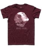 morte nera t-shirt uomo raffigurante la stazione spaziale dell'imperatore di guerre stellari