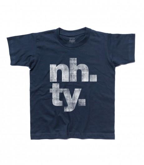 poker online t-shirt bambino con scritta NH. TY.