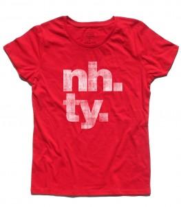 poker online t-shirt donna con scritta NH. TY.