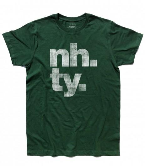 poker online t-shirt uomo con scritta NH. TY.
