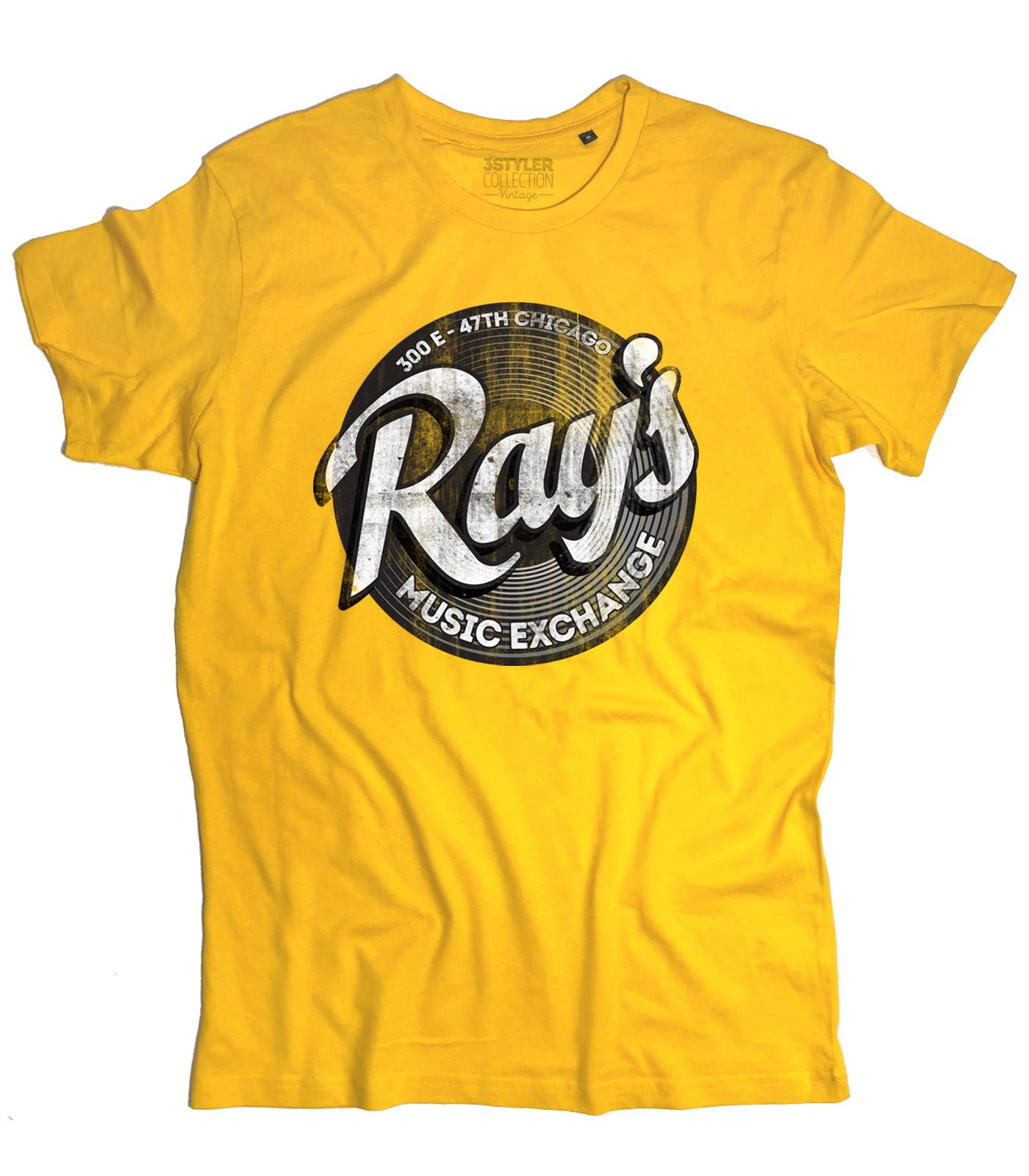 T-shirt uomo RAY/'S RAYS MUSIC EXANGE ispirata a BLUES BROTHERS Ray Charles