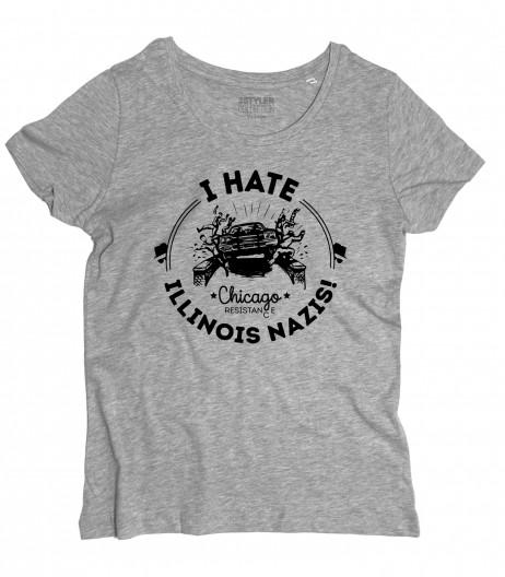 blues brothers t-shirt donna I hate Illinois nazis