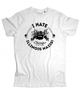 blues brothers t-shirt uomo I hate Illinois nazis