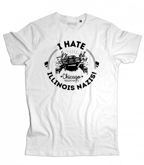 blues brothers t-shirt uomo I hate Illinois nazis