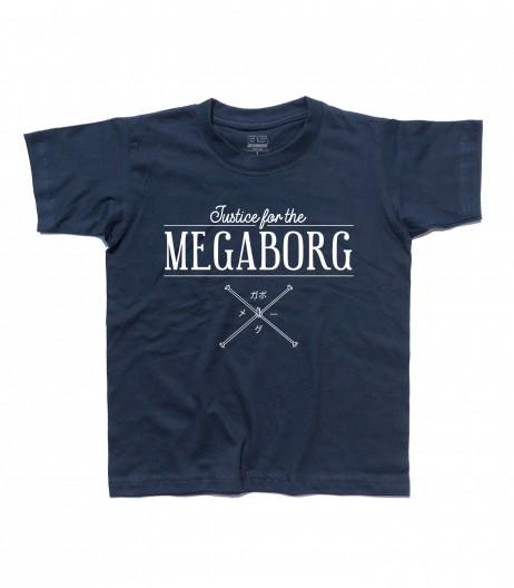 Daitarn 3 t-shirt bambino con scritta Justice for the Megaborg