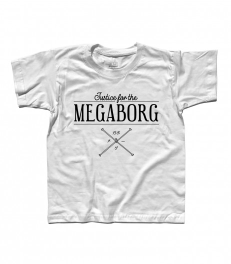 Daitarn 3 t-shirt bambino con scritta Justice for the Megaborg