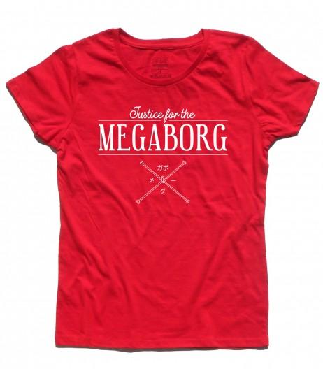 Daitarn 3 t-shirt donna con scritta Justice for the Megaborg