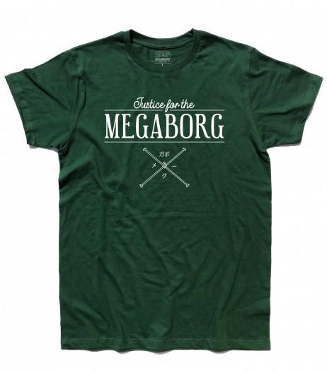 Daitarn 3 t-shirt uomo con scritta Justice for the Megaborg