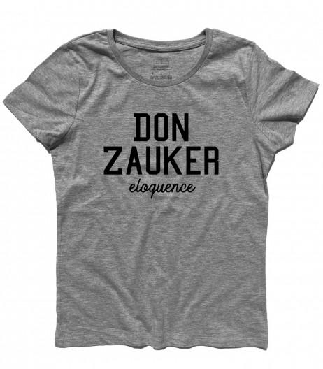 Daitarn 3 t-shirt donna con scritta Don Zauker eloquence