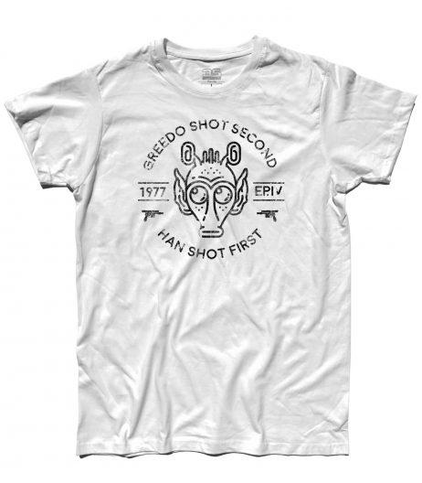 star wars t-shirt uomo greedo shot second