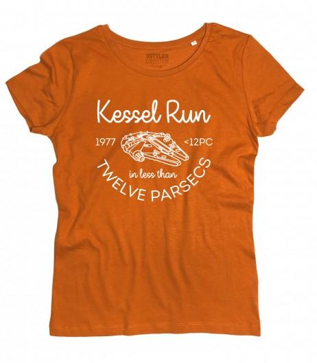 Star Wars t-shirt donna ispirata all'impresa di Han Solo nellaKessel Run