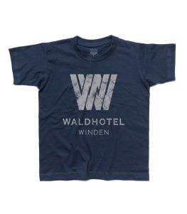 dark t-shirt bambino raffigurante il logo del Waldhotel