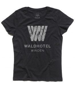 dark t-shirt donna raffigurante il logo del Waldhotel
