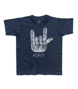 corna t-shirt bambino simbolo dell'hard rock e dell' heavy metal