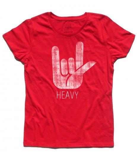 corna t-shirt donna simbolo dell'hard rock e dell' heavy metal