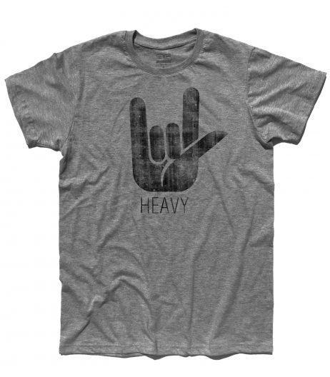 corna t-shirt uomo simbolo dell'hard rock e dell' heavy metal