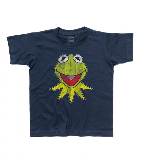 kermit t-shirt bambino raffigurante la rana presentatrice del Muppet Show