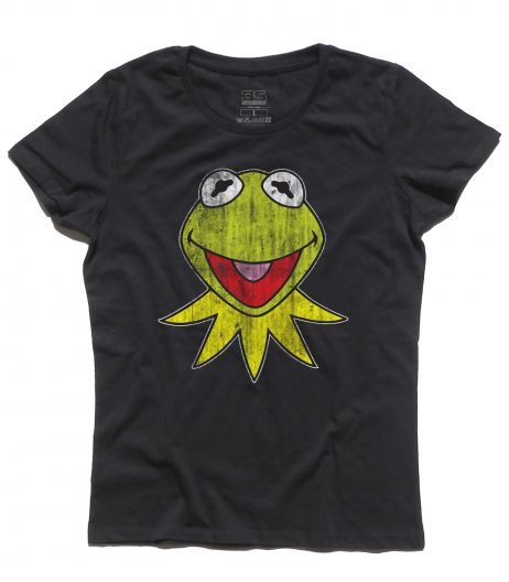 kermit t-shirt donna raffigurante la rana presentatrice del Muppet Show