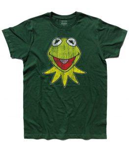 kermit t-shirt uomo raffigurante la rana presentatrice del Muppet Show