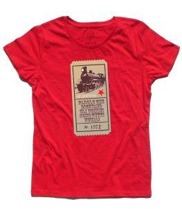 """guccini t-shirt donna con scritta """"parole che dicevano gli uomini sono tutti uguali"""" tratta dalla locomotiva"""