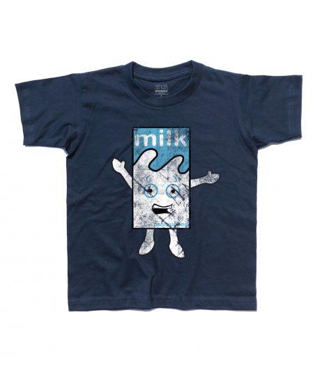 """Blur t-shirt bambino raffigurante il cartone di latte del video """"Coffee and Tv"""""""