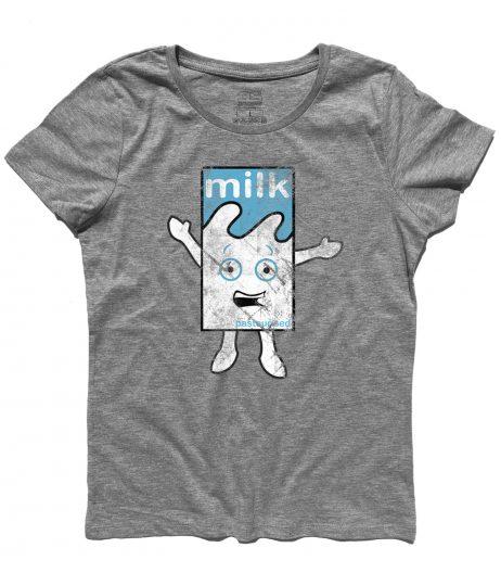 Blur t-shirt donna raffigurante il cartone di latte del video