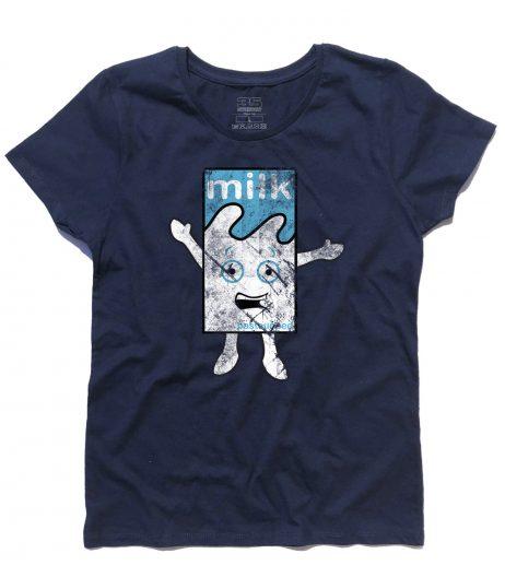 """Blur t-shirt donna raffigurante il cartone di latte del video """"Coffee and Tv"""""""
