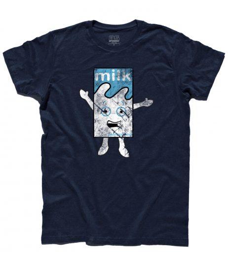 """Blur t-shirt uomo raffigurante il cartone di latte del video """"Coffee and Tv"""""""