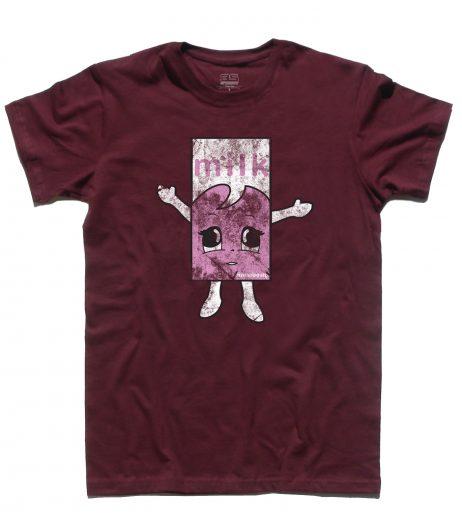 """Blur t-shirt uomo raffigurante il cartone di latte alla fragola del video """"Coffee and Tv"""""""
