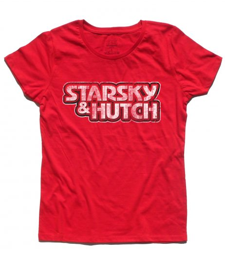 Starsky & Hutch t-shirt donna raffogurante il logo della serie antichizzato