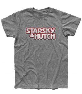 Starsky & Hutch t-shirt uomo raffigurante il logo della serie antichizzato