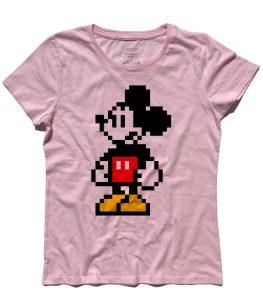 Topolino t-shirt donna in versione pixel