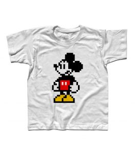Topolino t-shirt bambino in versione pixel